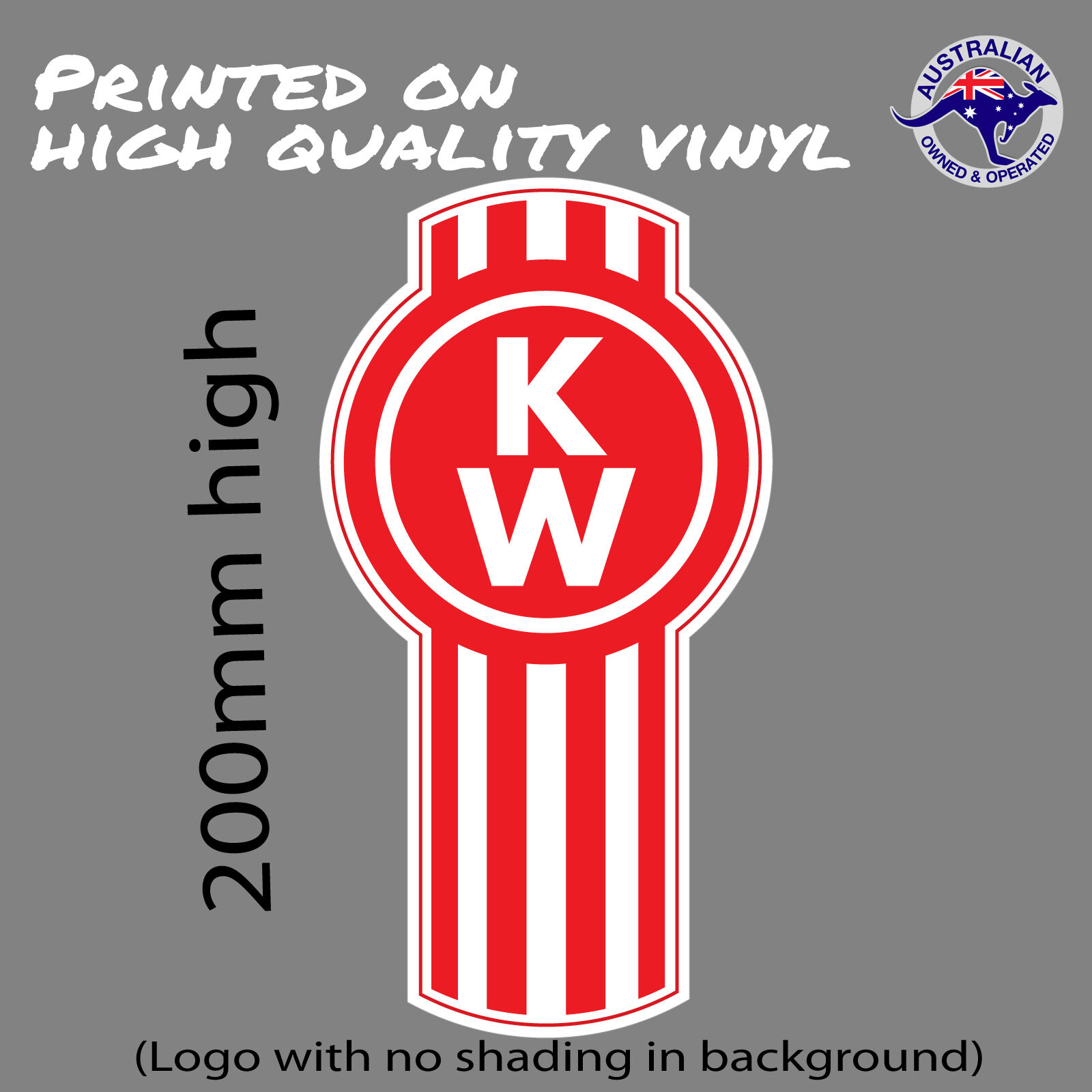 KENWORTH Trucks logo (with no shading) decal UTE TOOLBOX ...
