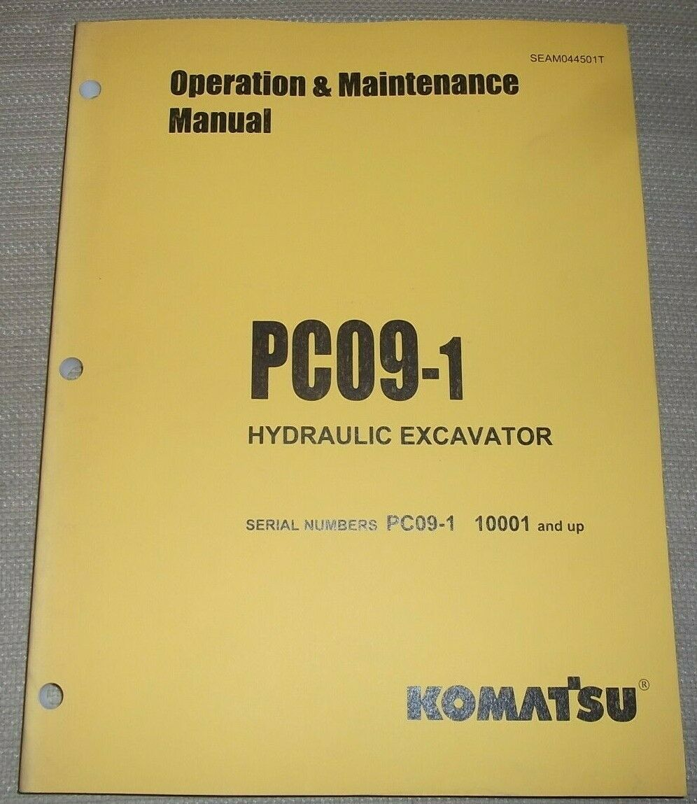 Komatsu Pc09-1 Excavator Operation & Maintenance Book Manual S/n 10001-Up 1  of 4Only 1 available ...