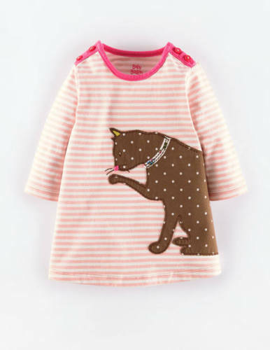 Baby boden stripy applique pink cat jersey dress bnib 3 for Mini boden germany