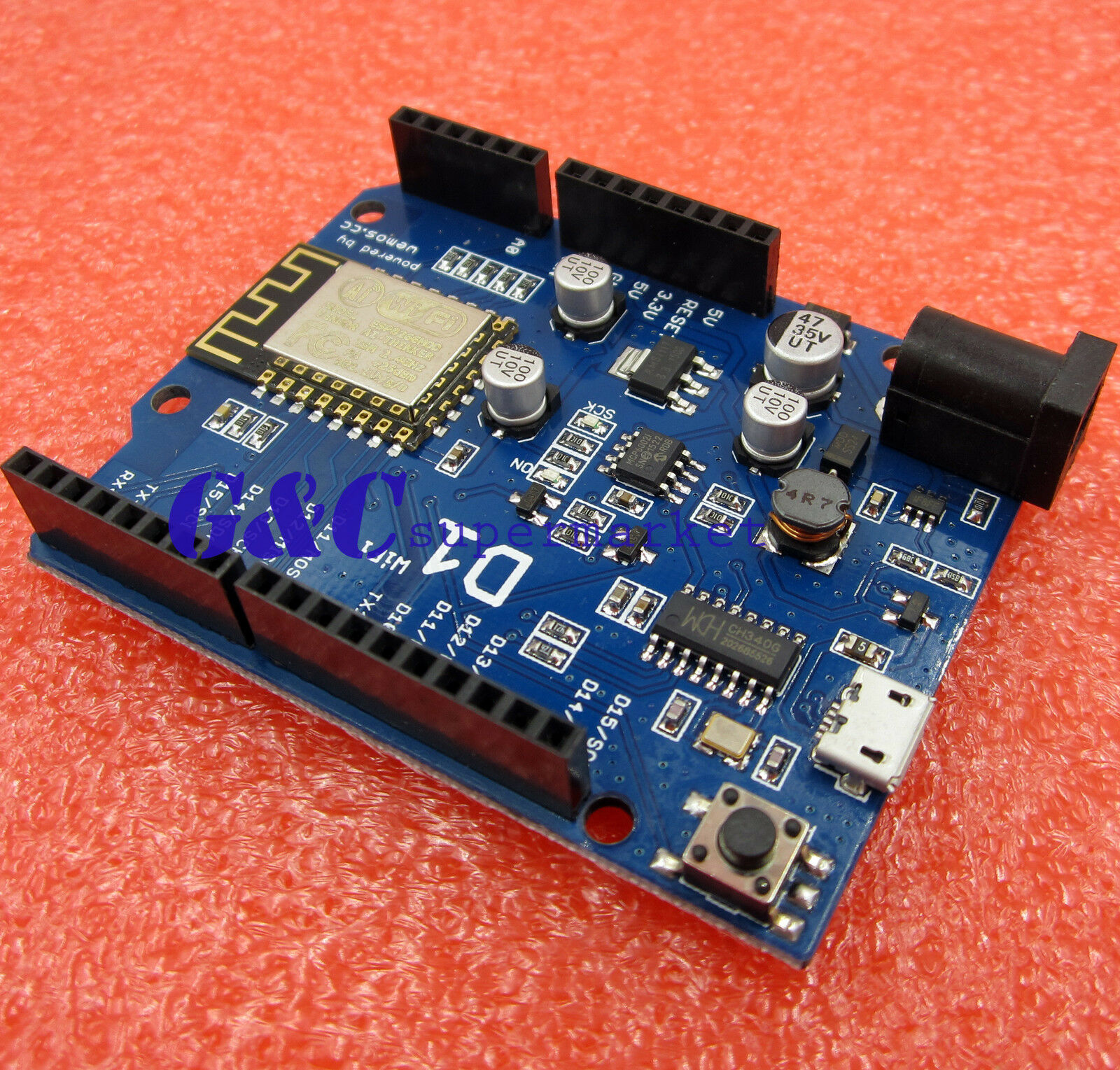 Ota Wemos D1 Ch340 Wifi Development Board Esp8266 Esp 12e For Antietching Pcb Circuit Ink Marker Pen Diy Arduino 1 Of 4 See More