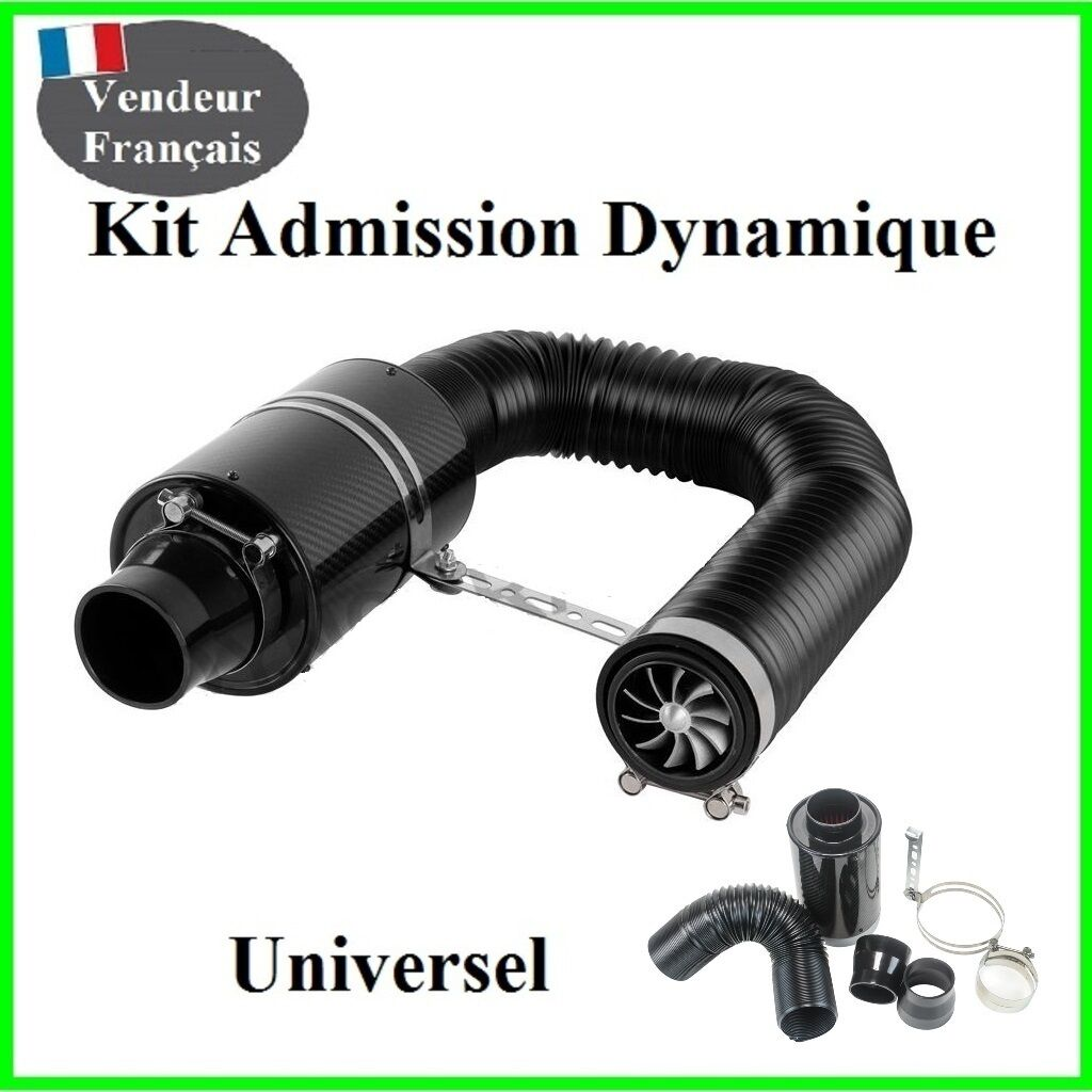 kit admission dynamique direct universel boite a air carbone filtre racing sport eur 79 00. Black Bedroom Furniture Sets. Home Design Ideas