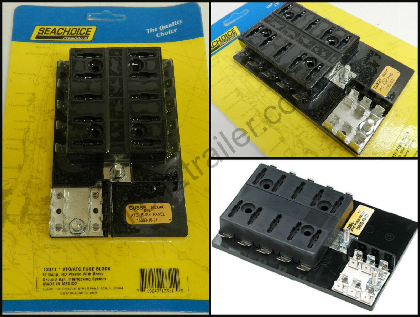 Ato Atc Marine Boat Rv Fuse Terminal Block 10 Gang Ground Buss Reset Box 1 Of 1only 4 Available