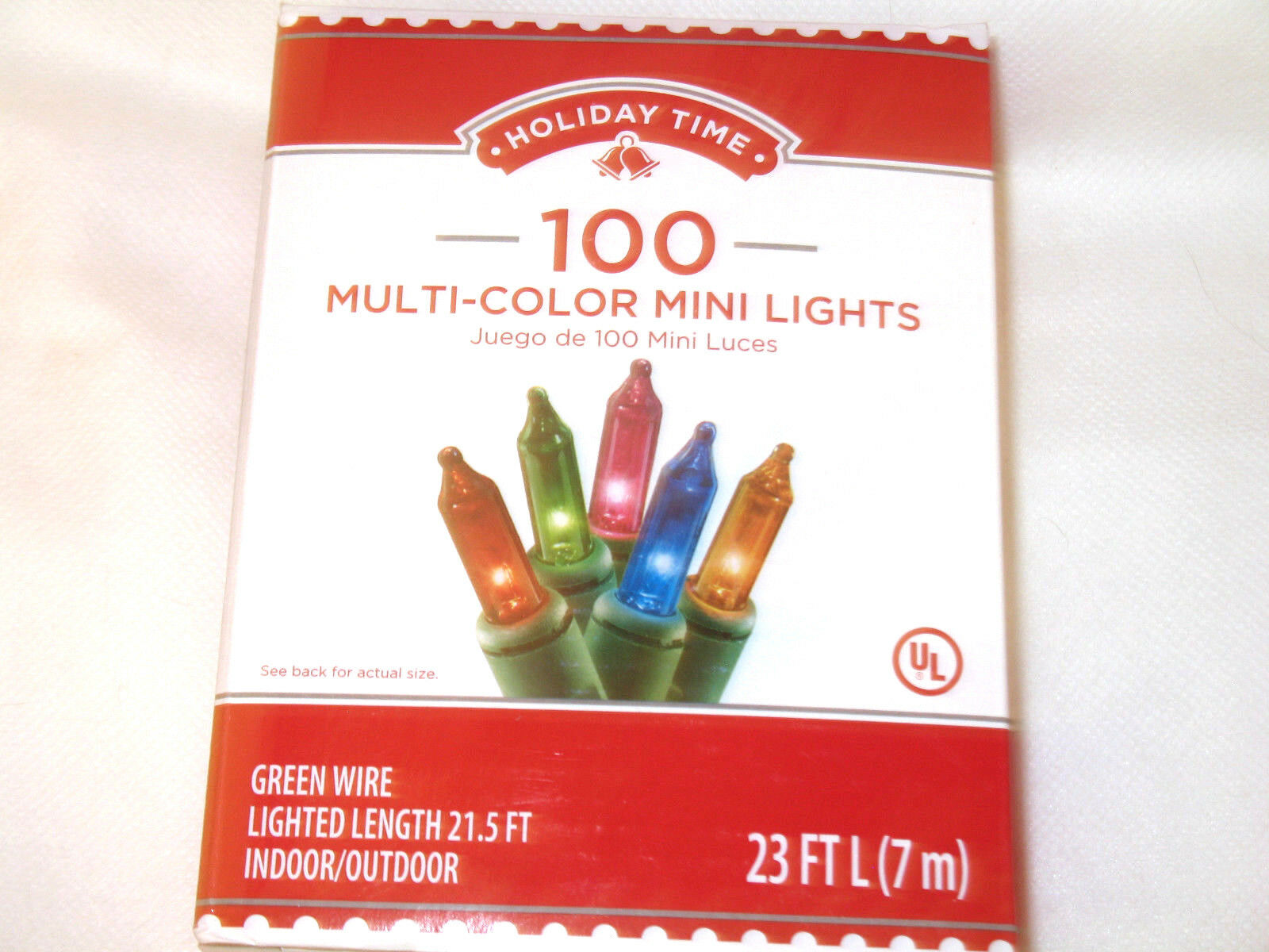 100 MINI CHRISTMAS Lights Clear or Multi Color Party Indoor Outdoor ...