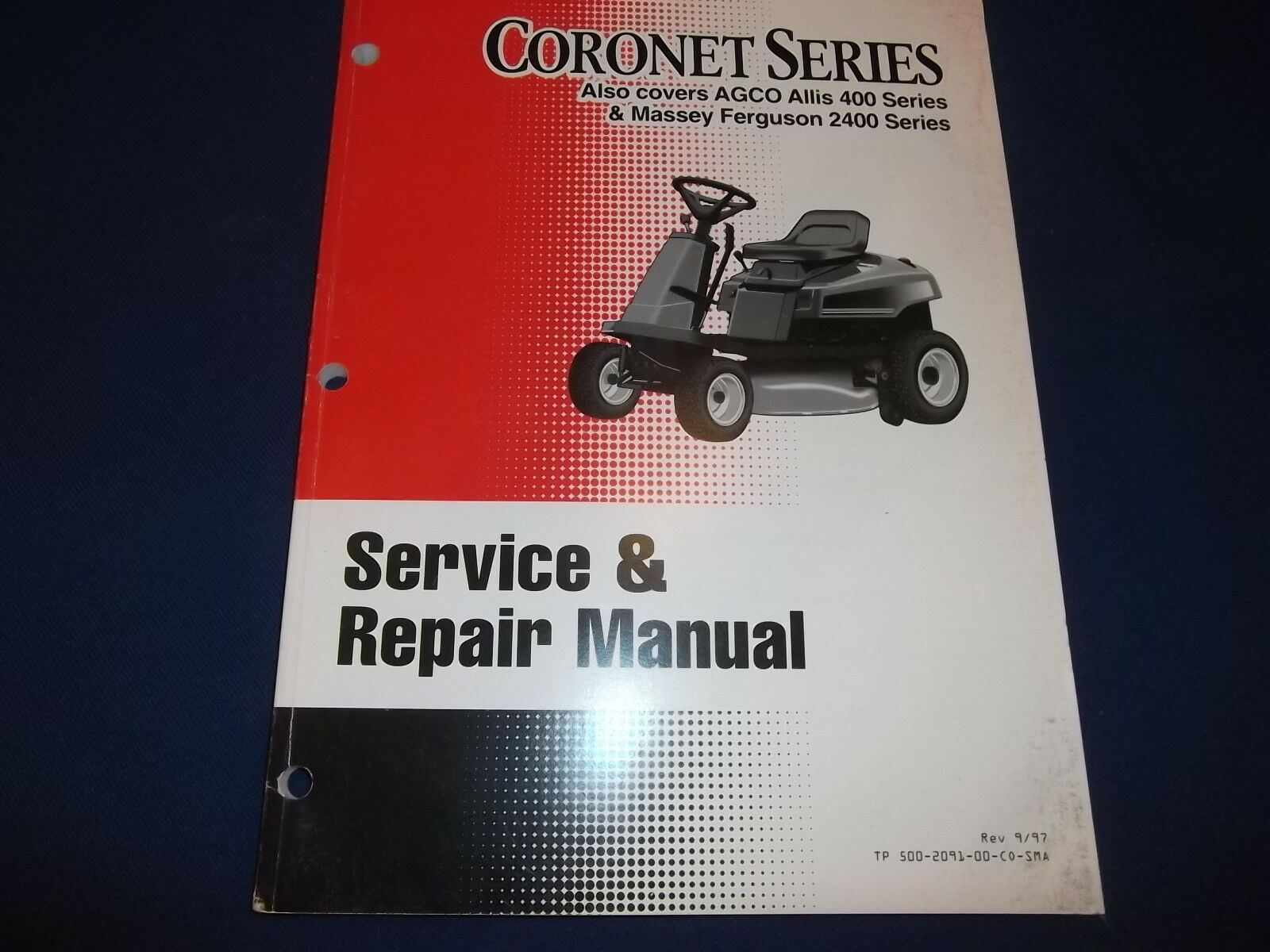 Coronet Massey Ferguson 2400 Allis 400 Lawn Mower Service Shop Repair Manual  1 of 4Only 1 available See More