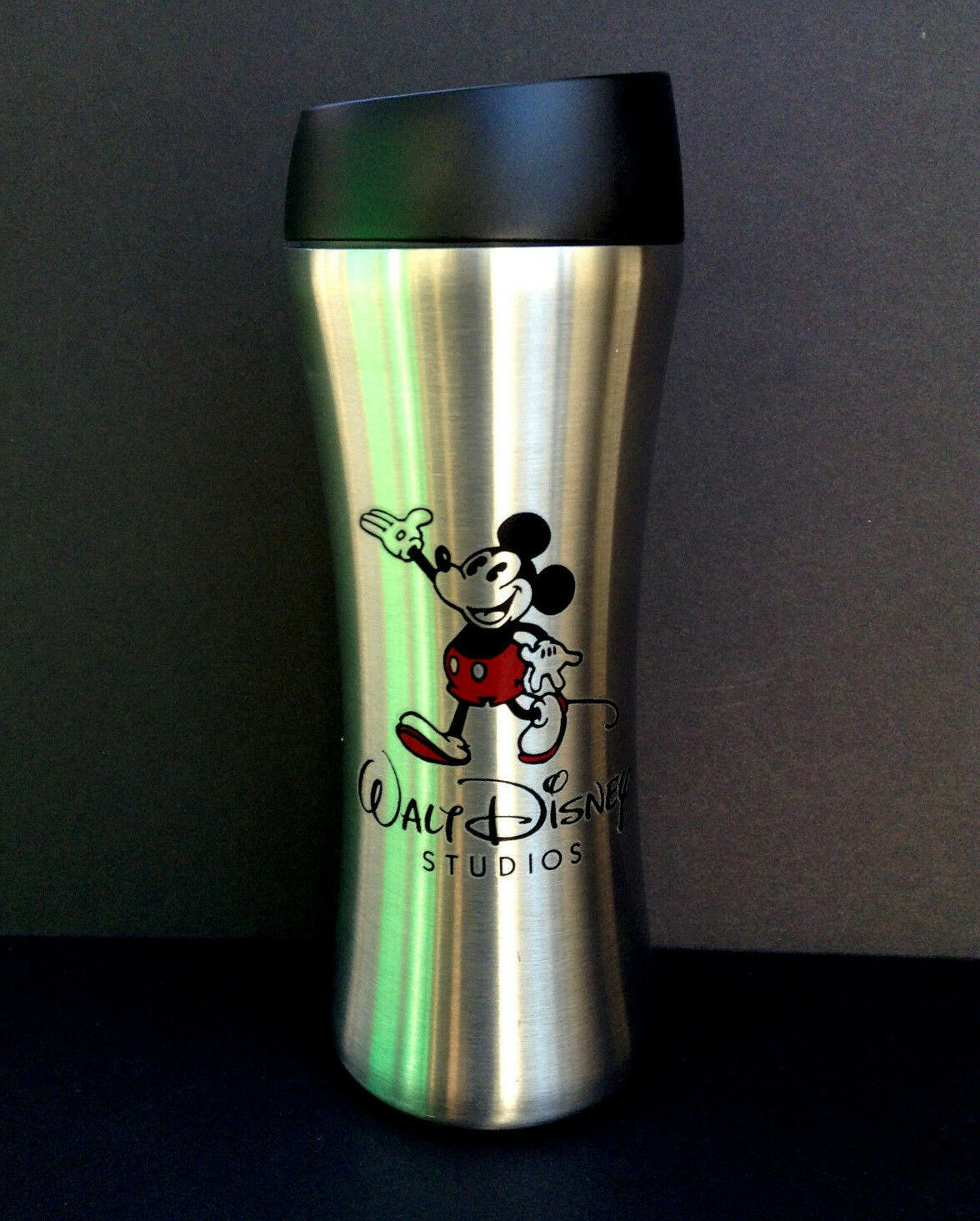 DISNEY PARKS TRAVEL MUG MICKEY MOUSE WALT STUDIOS Stainless Steel 16 ...