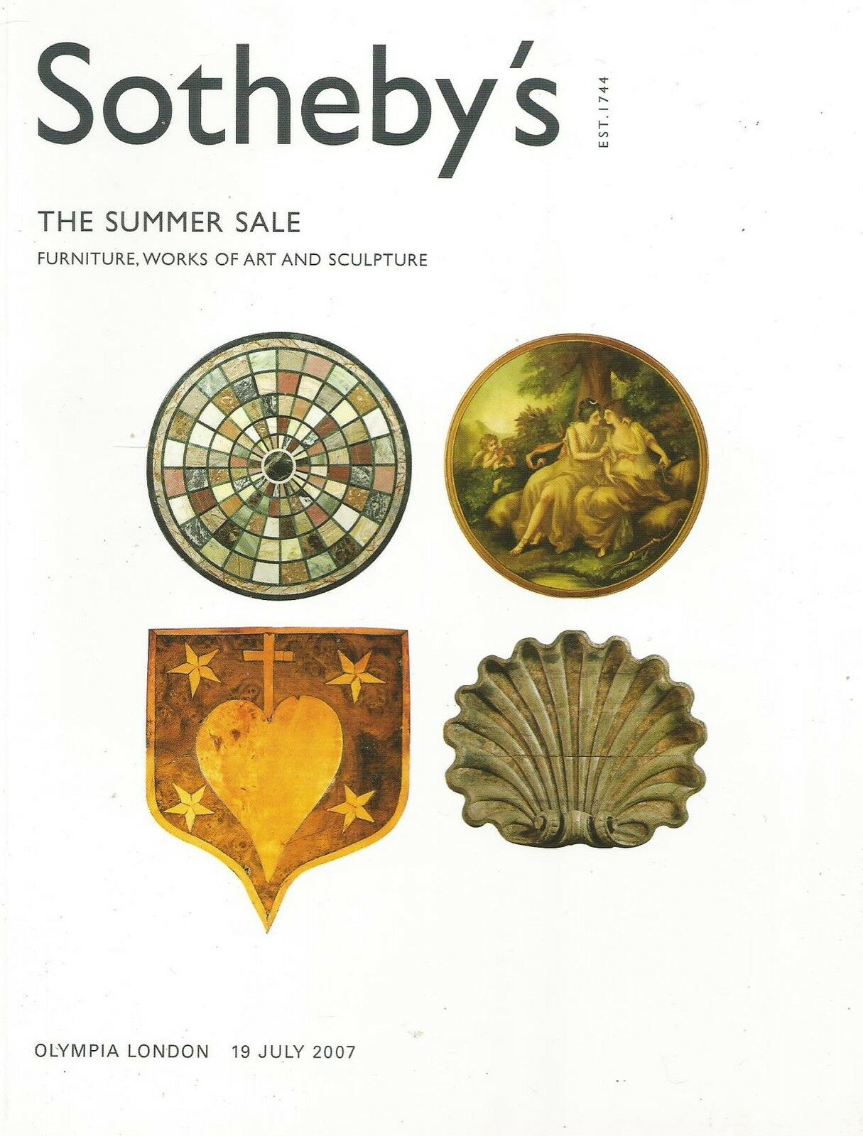 Sotheby`s Catalogue Furniture, Works Of Art & Sculpture
