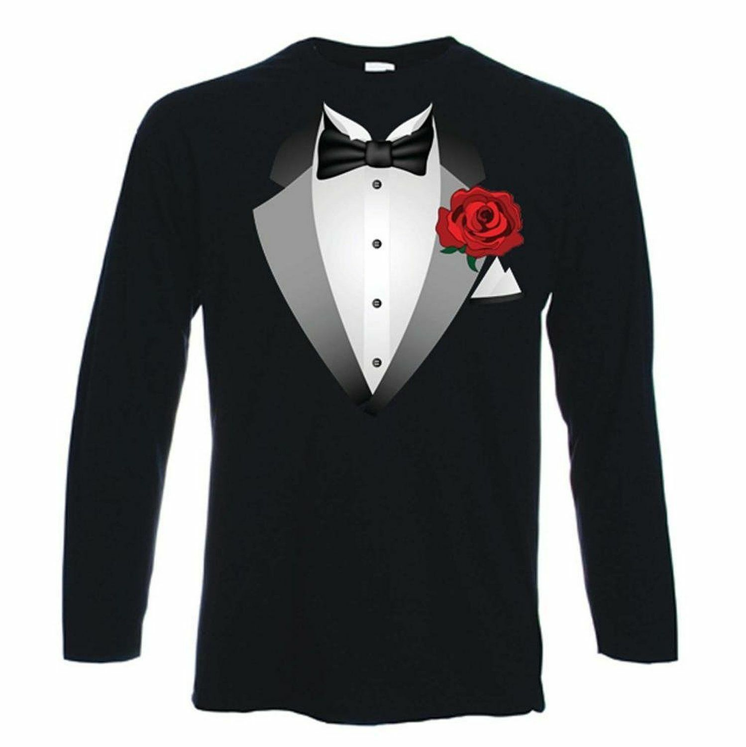 Toddler tuxedo t-shirts, baby tux onesies, and if your bambino is a little bigger, we also have kids' tuxedo t-shirts. These are easy to put on, even on the most hyperactive kids and machine washable, so you don't have to stress out about spills or stains.
