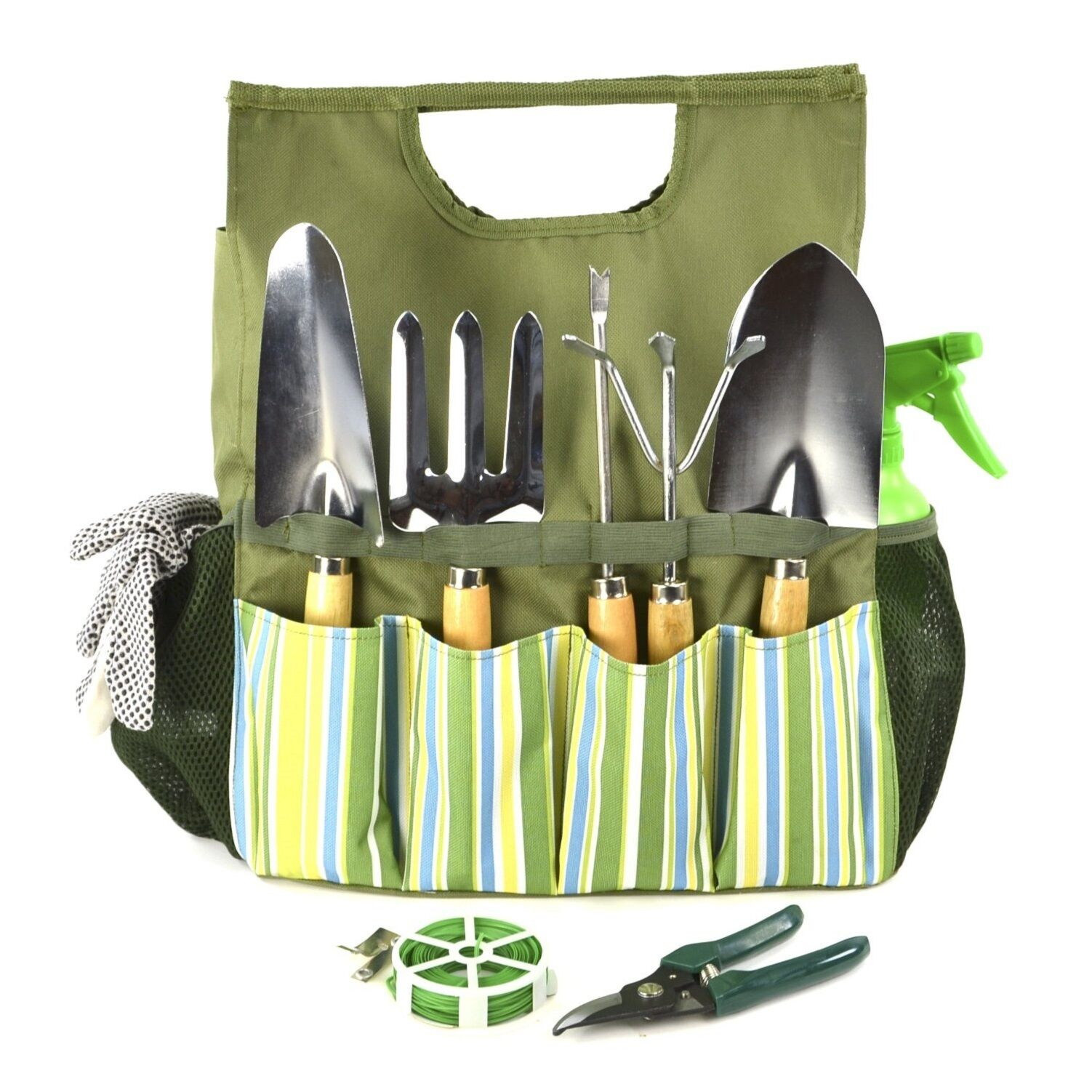 Gardening planting hand tools set and tool bag garden for Gardening tools kit set