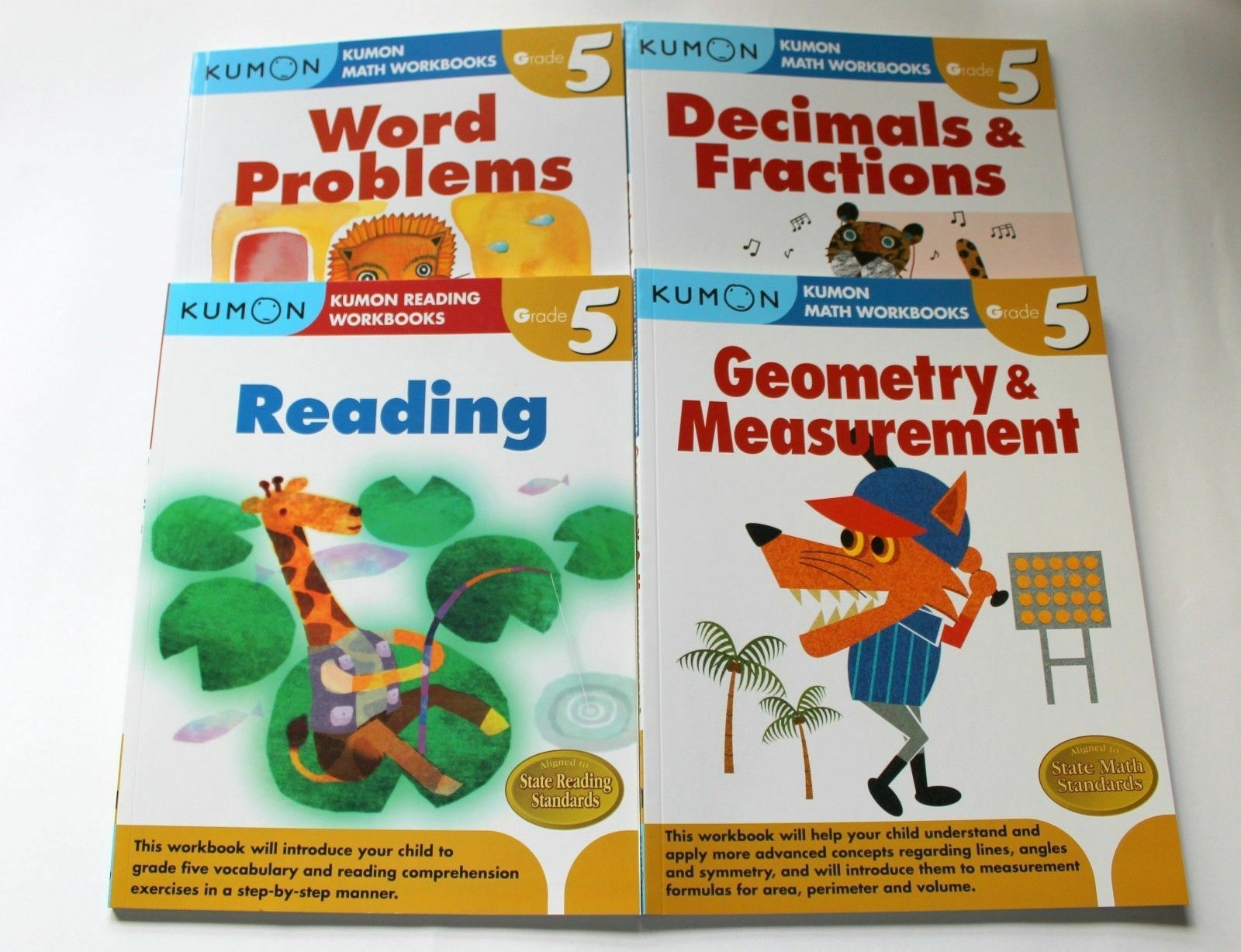 Kumon grade 5 set math reading 4 books free shipping 1 of 1free shipping fandeluxe Choice Image