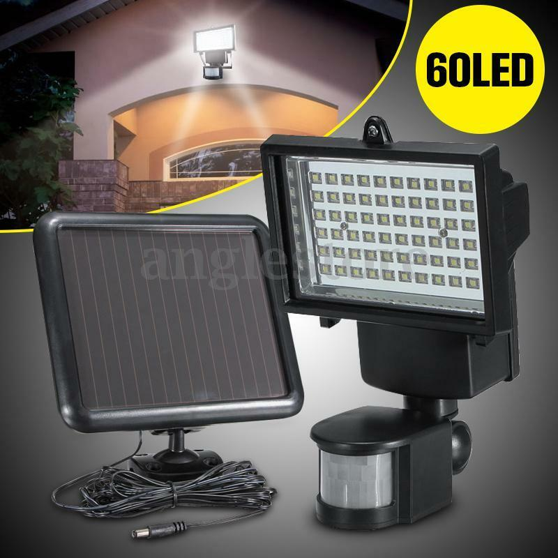 60led lampe solaire lumi re capteur s curit d tecteur mouvement jardin maison eur 28 99. Black Bedroom Furniture Sets. Home Design Ideas