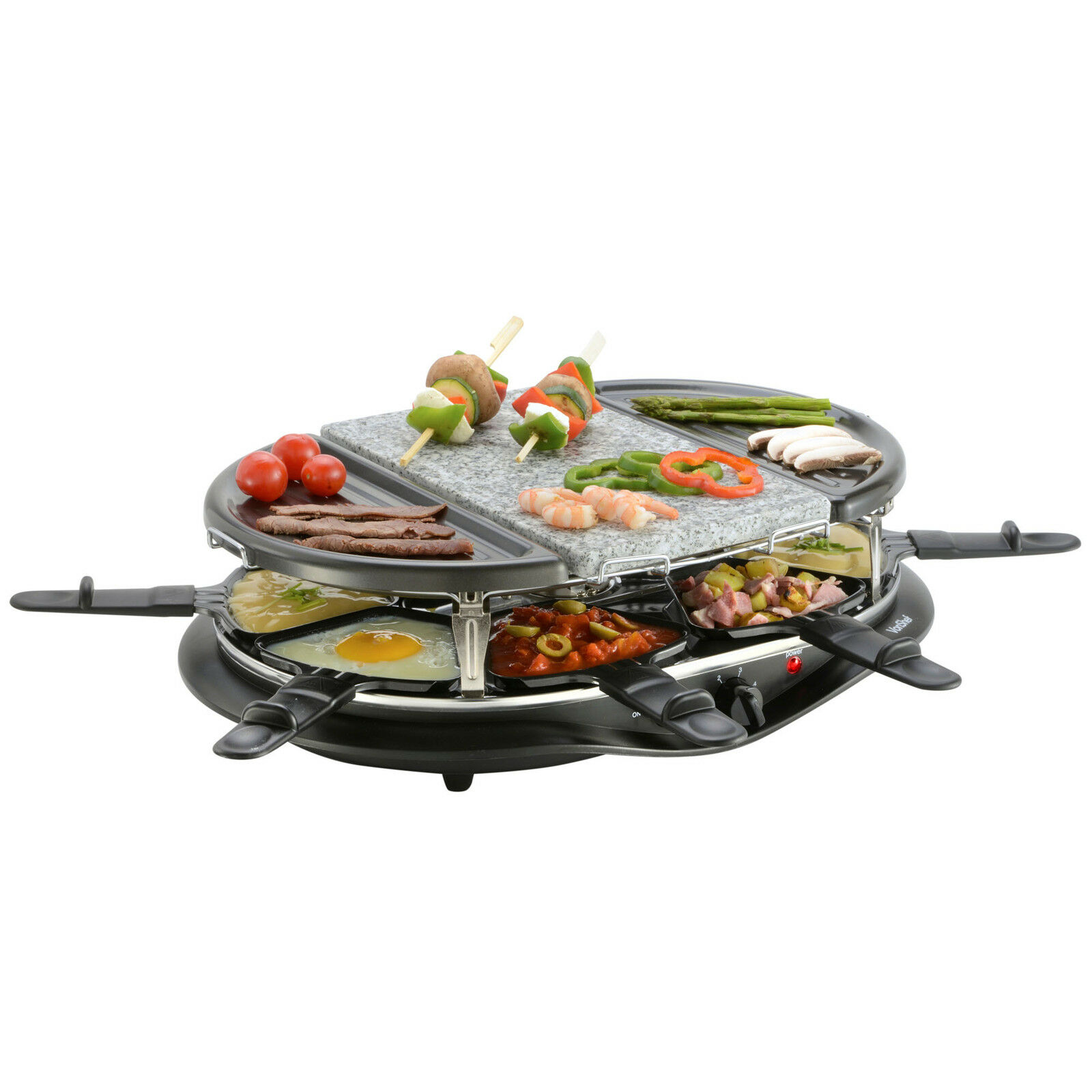 Vonshef 8 Person Raclette Grill Indoor Bbq With Natural