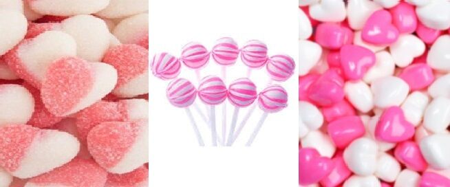 Pink DIY Candy Lolly Bar Gummy Mini Heart Wedding Party Favour