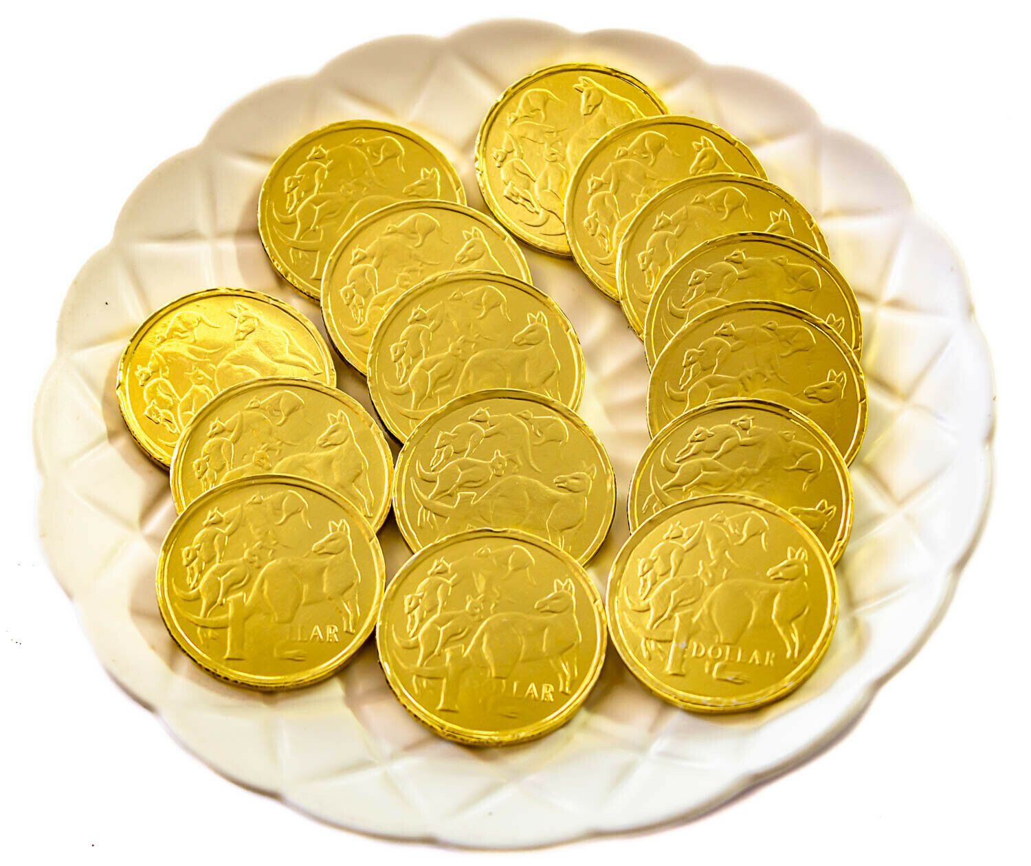 Gold Chocolate Coins Bag - 1Kg  -  Party, Wedding Favours