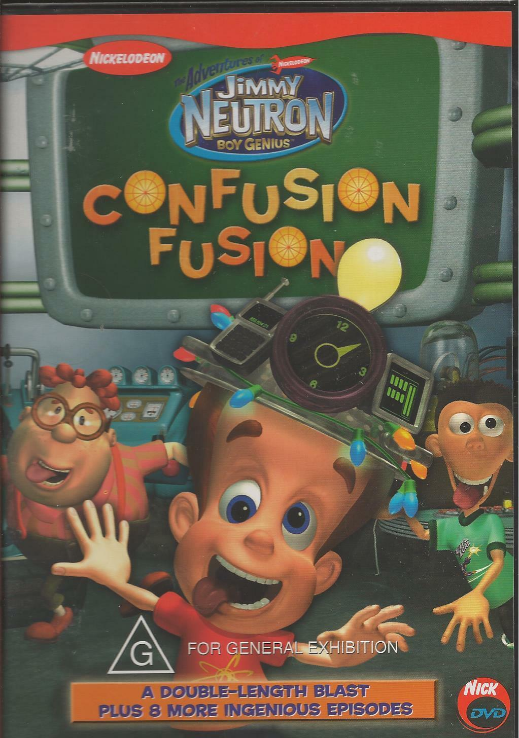 JIMMY NEUTRON CONFUSION Fusion New DVD Region 4 Sealed - $6.18 ...