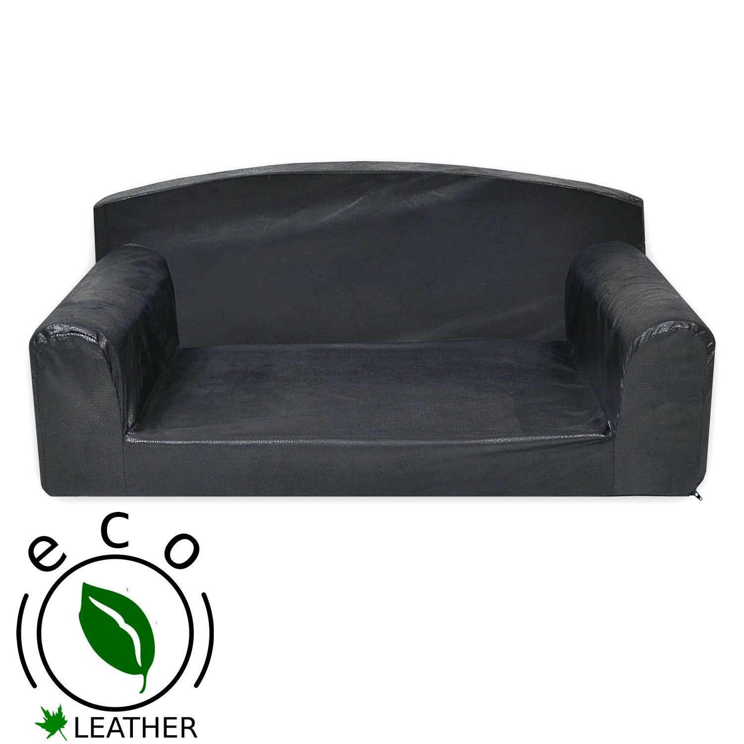 Eco Snake- Faux Leather Pet Sofa. HQ Skin on Dog Settee. Durable Cat Black Couch