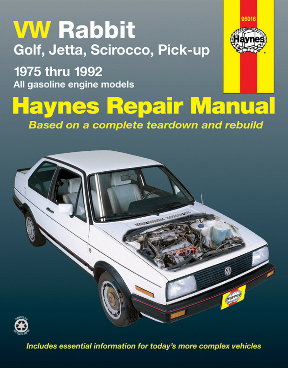 Haynes Publication 96016 VW Rabbit Repair Manual Service Book 1 of 1Only 5  available ...
