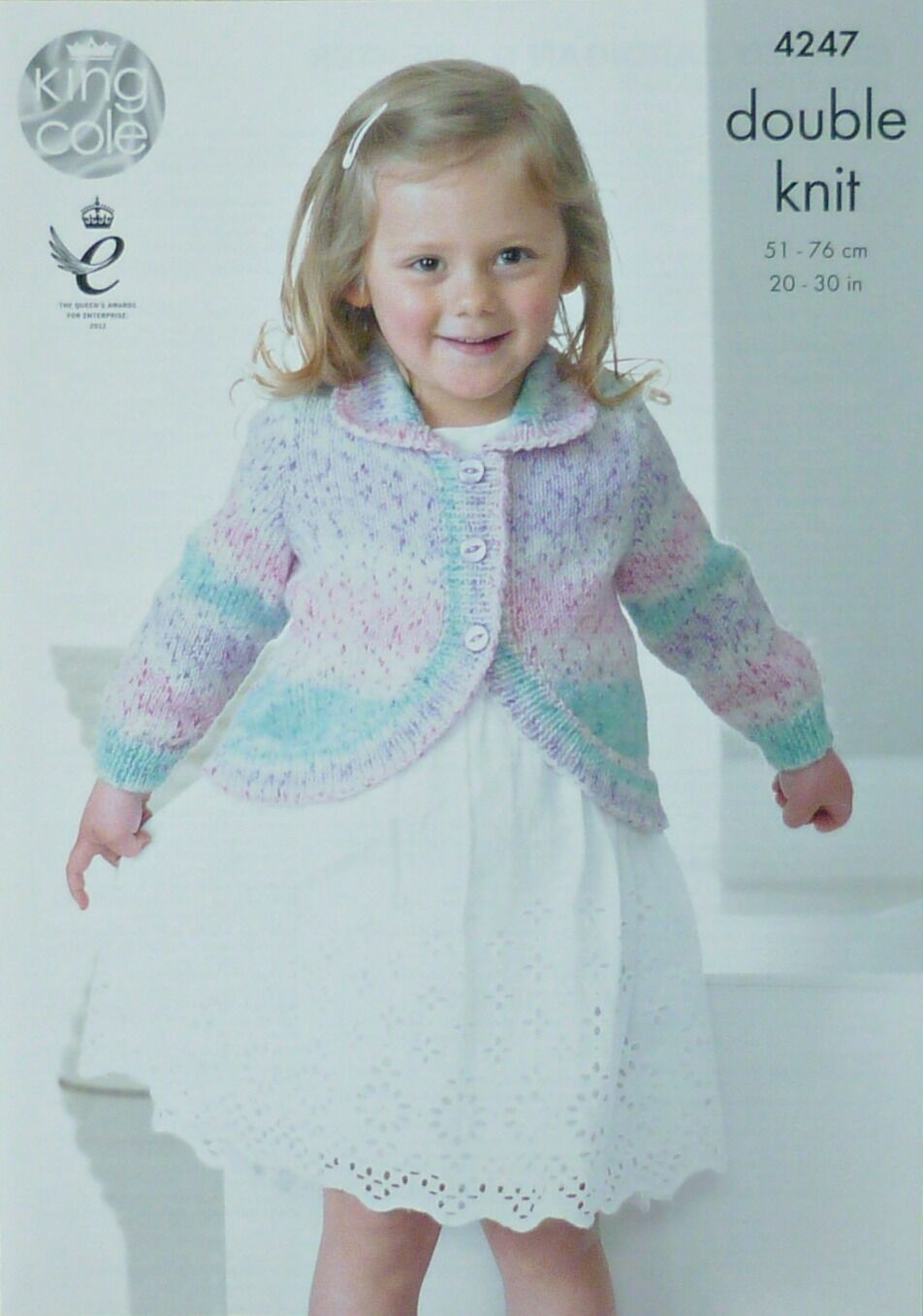 KNITTING PATTERN Girls Long Sleeve Bolero Cardigan with Collar DK King Cole 4...