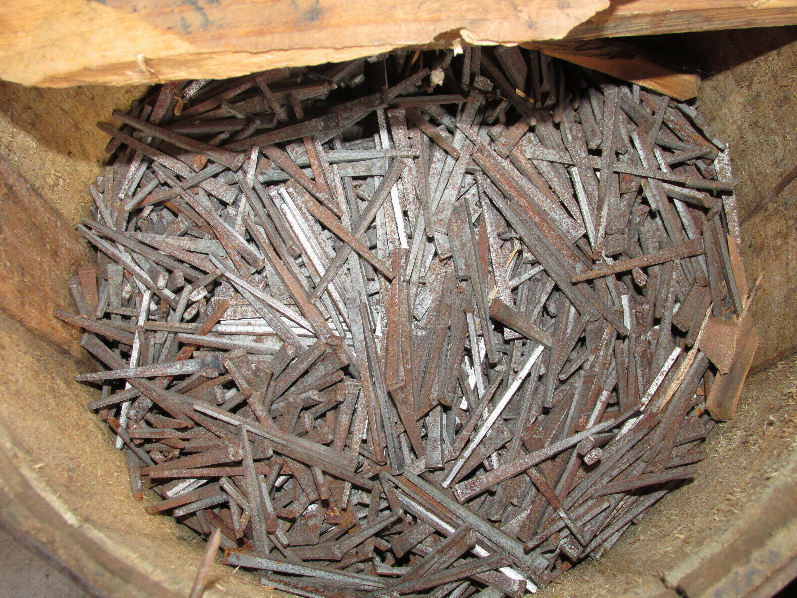 "Lot of 300 ANTIQUE SQUARE CUT 2 1/2"" hand cut NAILS New Old Stock NOS Barn Find"