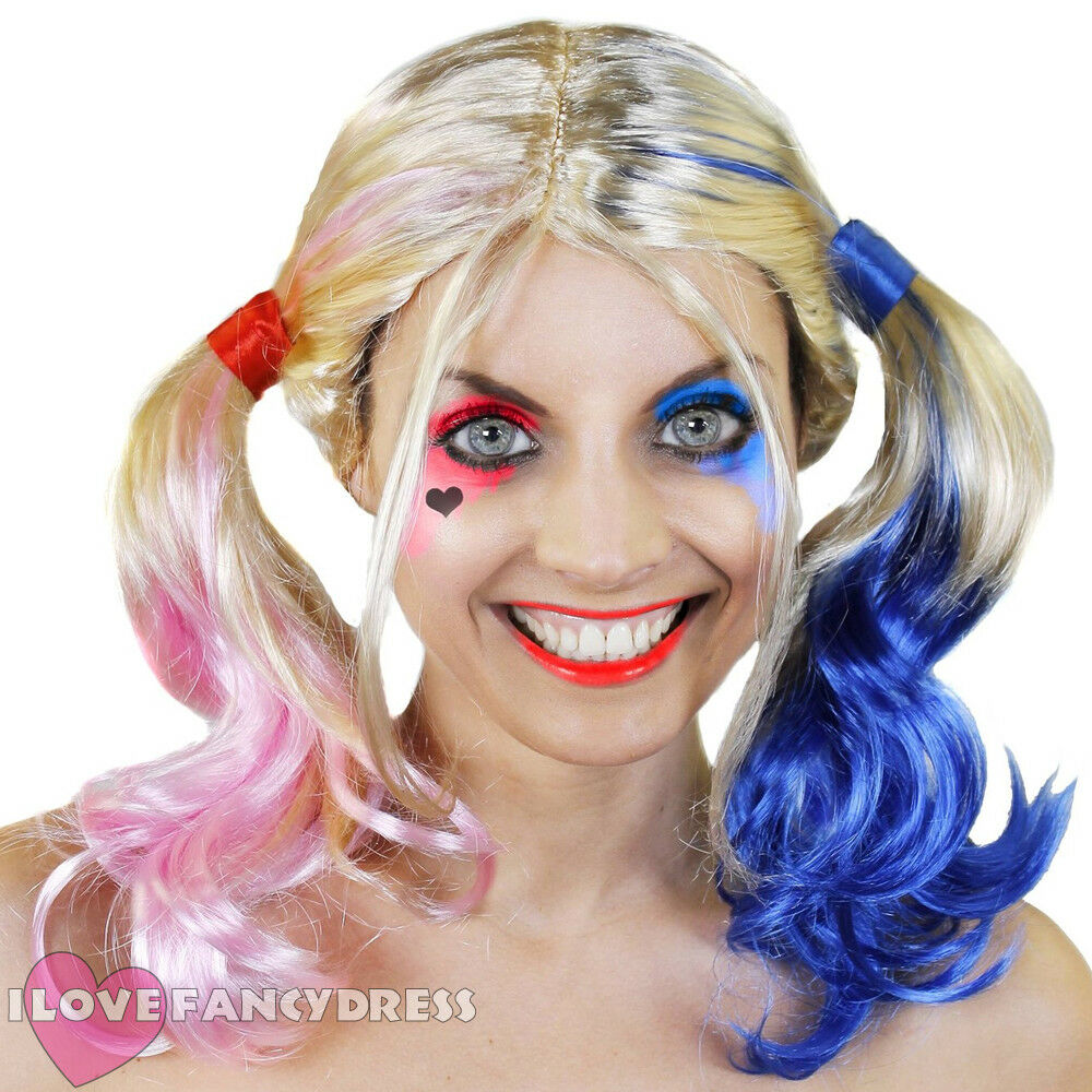 Blonde Pink And Blue Wig Costume And Wigs