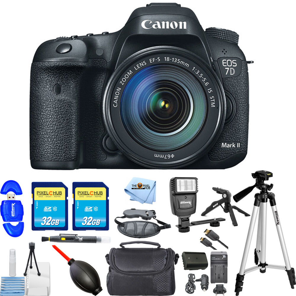 Canon Eos 7d Mark Ii Dslr Camera With 18 135mm F 35 56 Stm Lens 6d Kit 24 105mm Is Wifi And Gps 1 Of 6only 2 Available