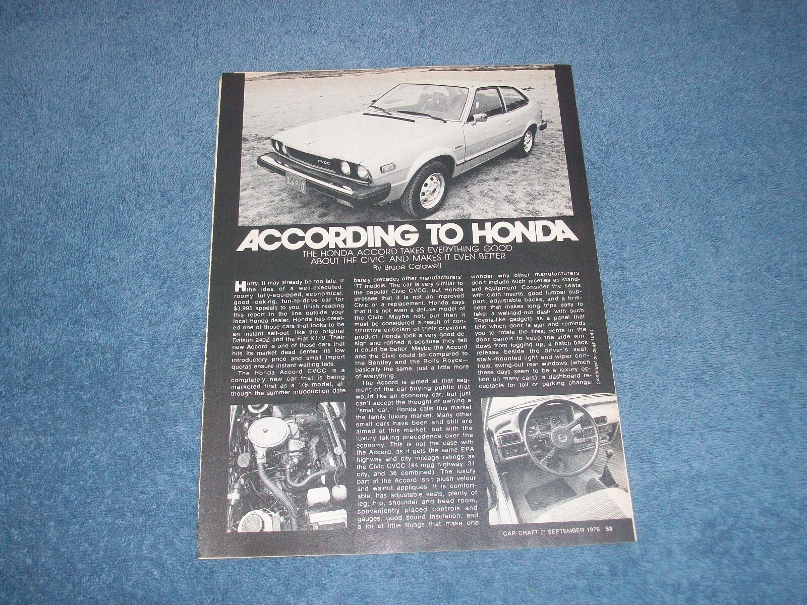 1977 Honda Accord Vintage Info Article According To Civic 1970 Cvcc 1 Of 1only Available See More