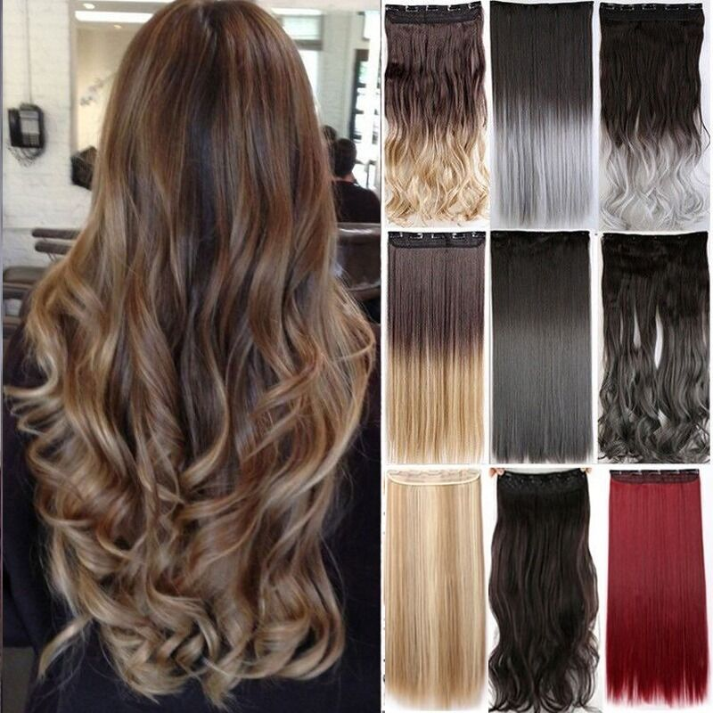 Uk Stock As Real Remy Human Hair Clip In Full Head Hair Extensions