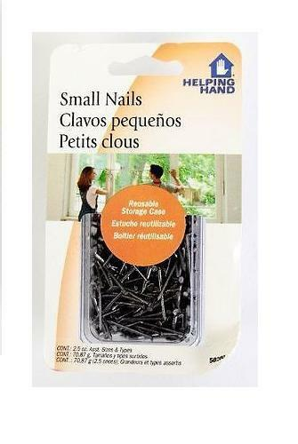 Helping Hand Small Straight T-head Nails, 2.5 oz