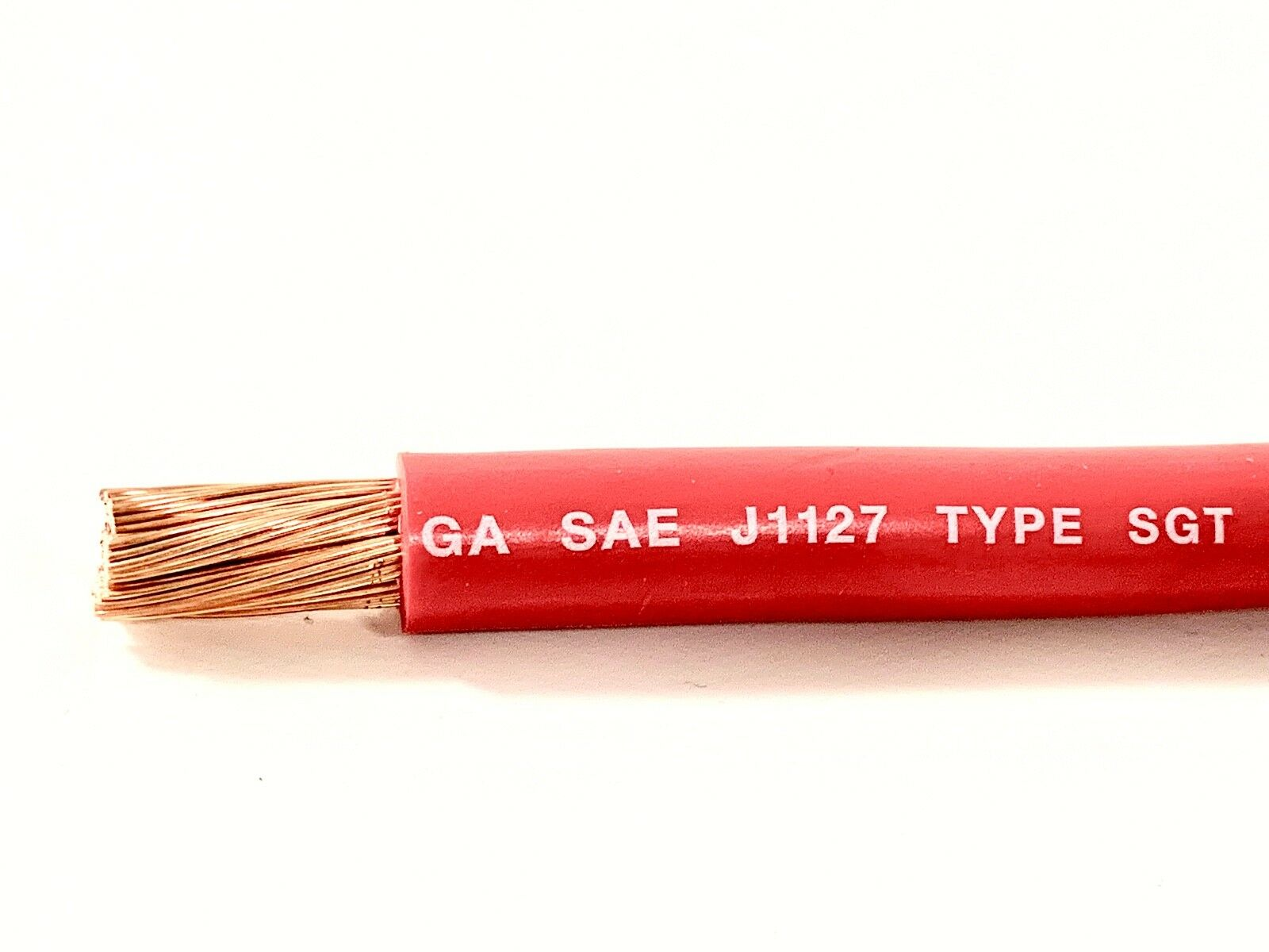 2 GAUGE COPPER Battery Cable RED SAE J1127 SGT Automotive Power Wire ...