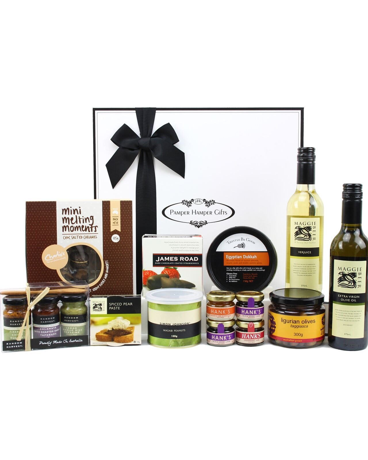 Pamper Hamper Gifts Gourmet Flavours Aussie Food Hamper Hapmers Wine