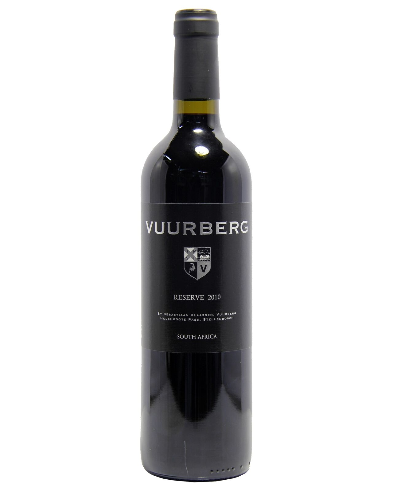 Vuurberg Reserve Red 2010 case of 6 Cabernet Blends Dry Red Wine 750mL