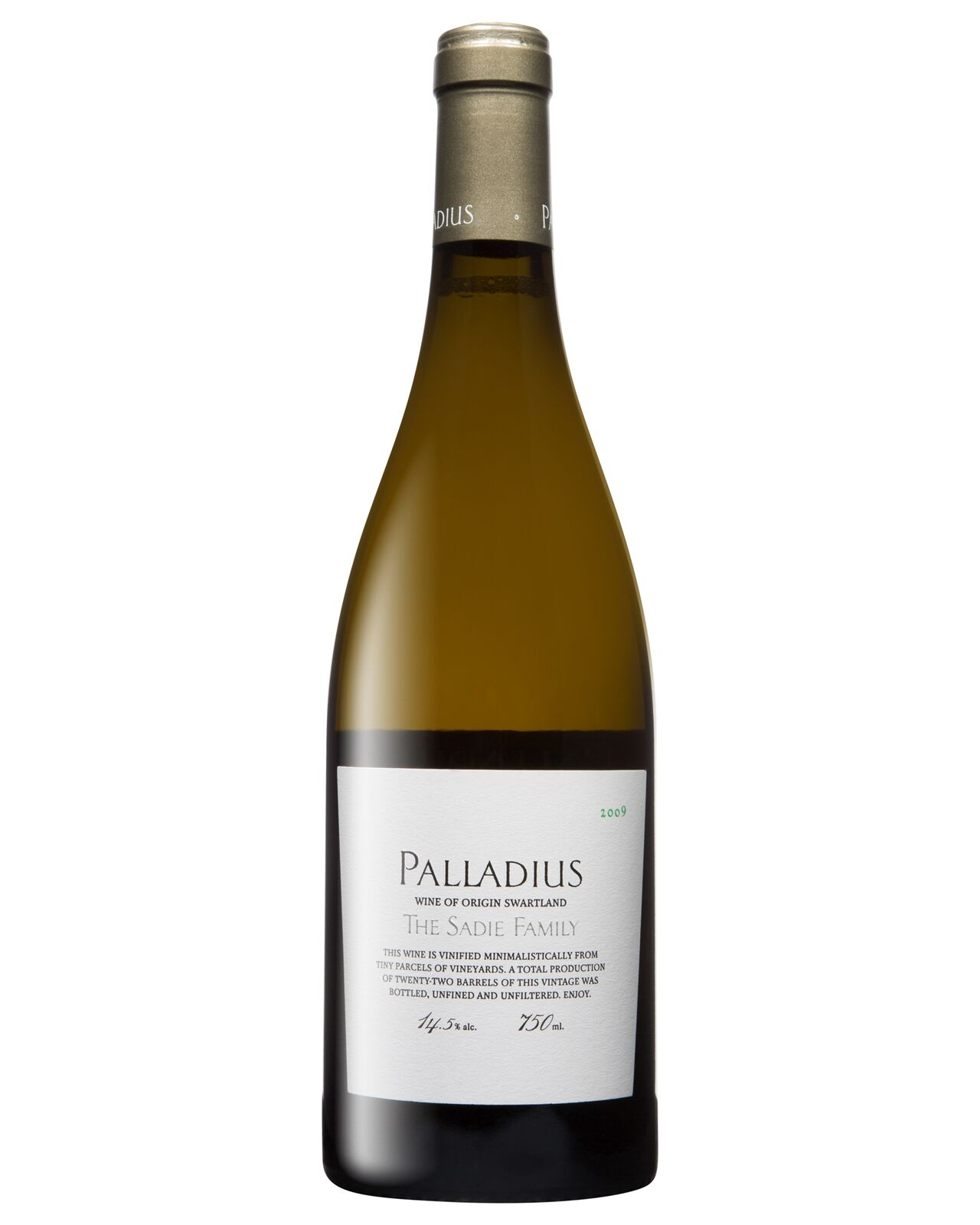 Sadie Family Palladius 2009 bottle Dry White Wine 750mL Swartland