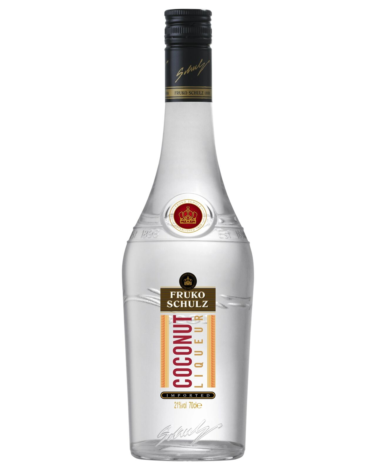 Fruko-Schulz Coconut Liqueur 700mL case of 6 Fruit Liqueurs