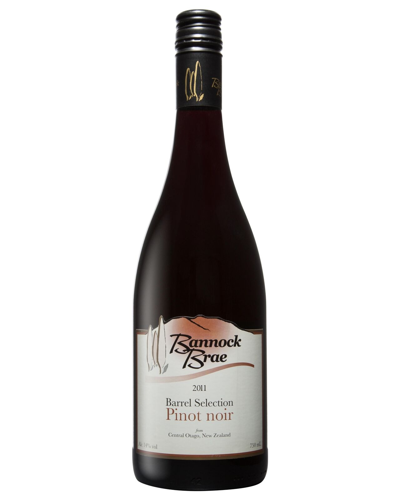 Bannock Brae Barrel Selection Pinot Noir 2011 case of 6 Dry Red Wine 750ml