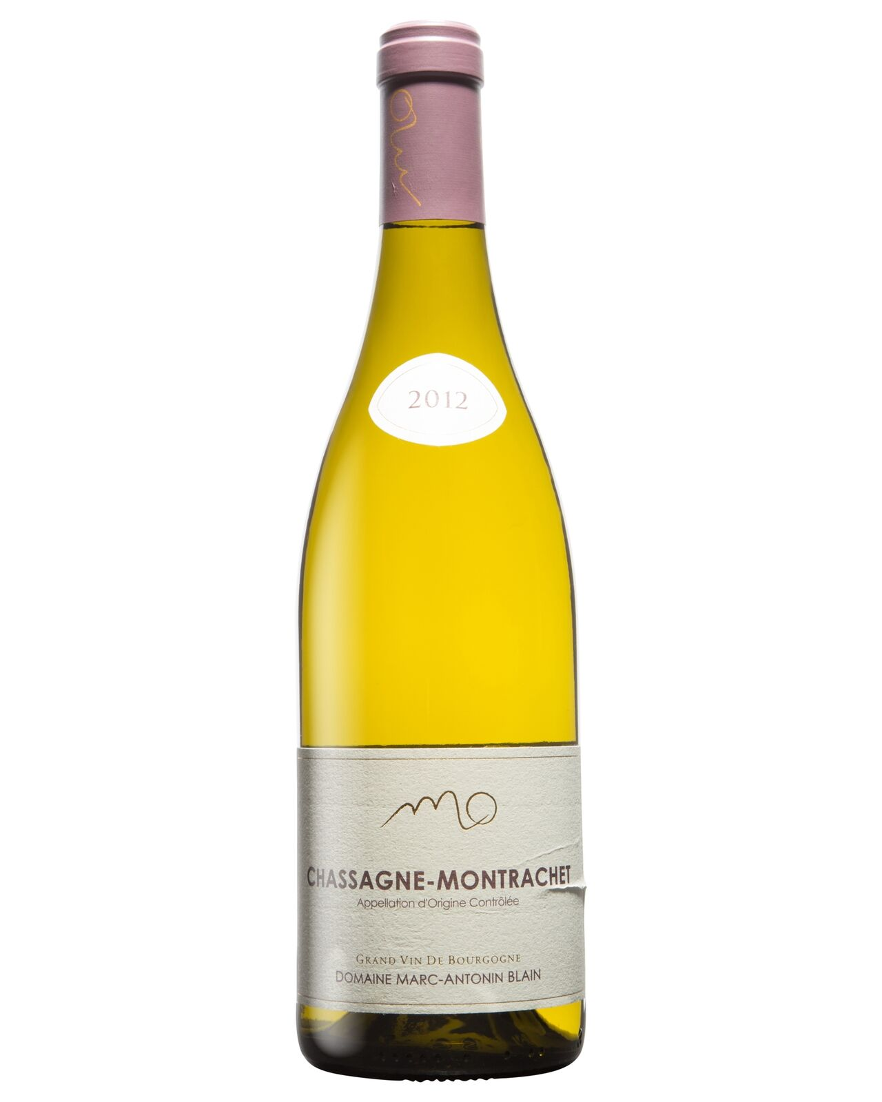 Domain Marc-Antonin Blain Chassagne Montrachet rouge 2012 bottle Pinot Noir Wine