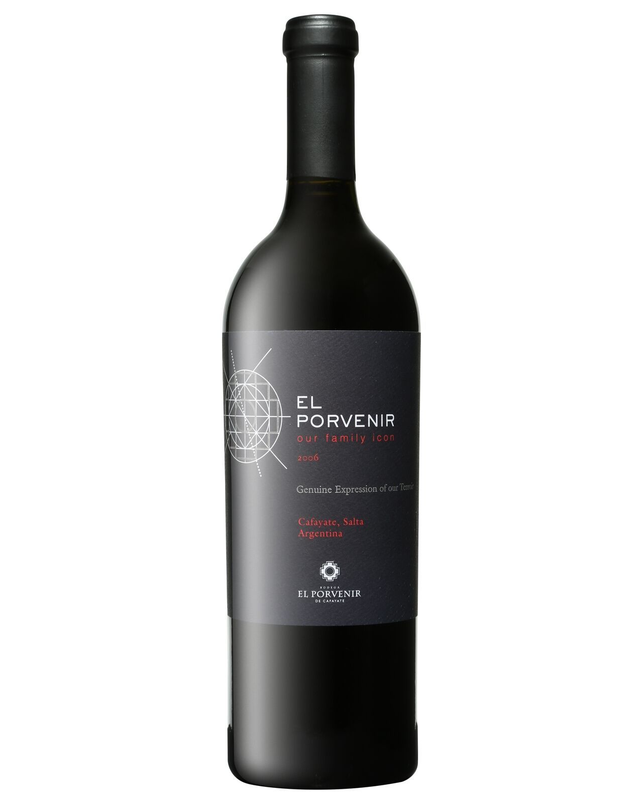El Porvenir Our Family Icon 2006 bottle Malbec Cabernet Sauvignon Tannat Shiraz