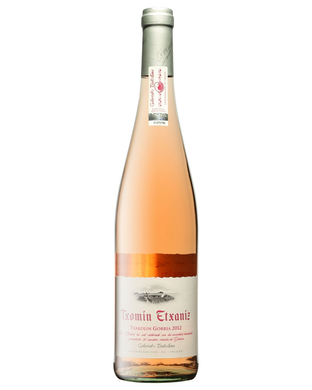 Txomin Extaniz Pink Txakoli 2015 case of 6 Dry Rosé Wine 750mL DO Txakoli