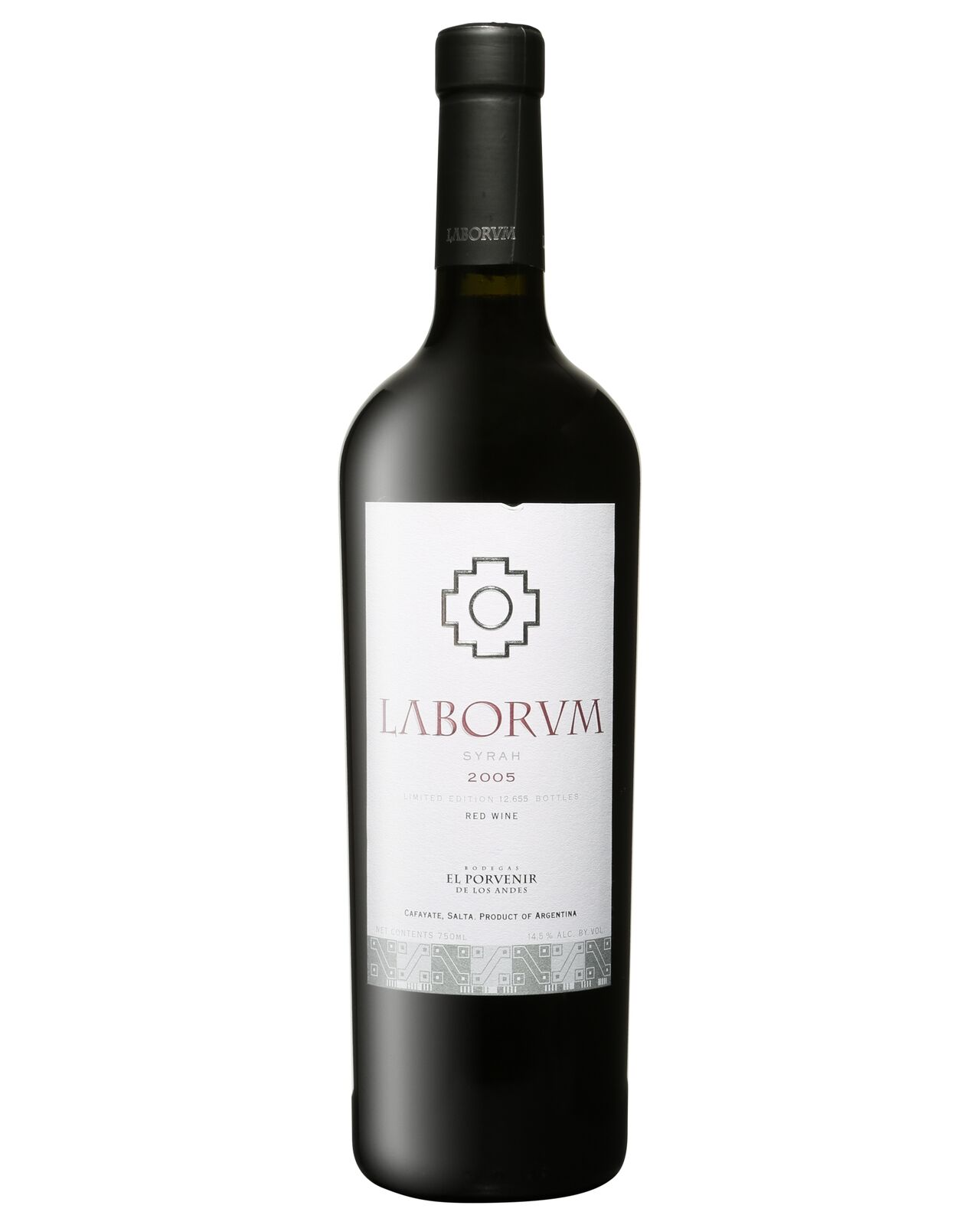 El Porvenir Laborum Single Vineyard Syrah 2005 case of 6 Shiraz Dry Red Wine