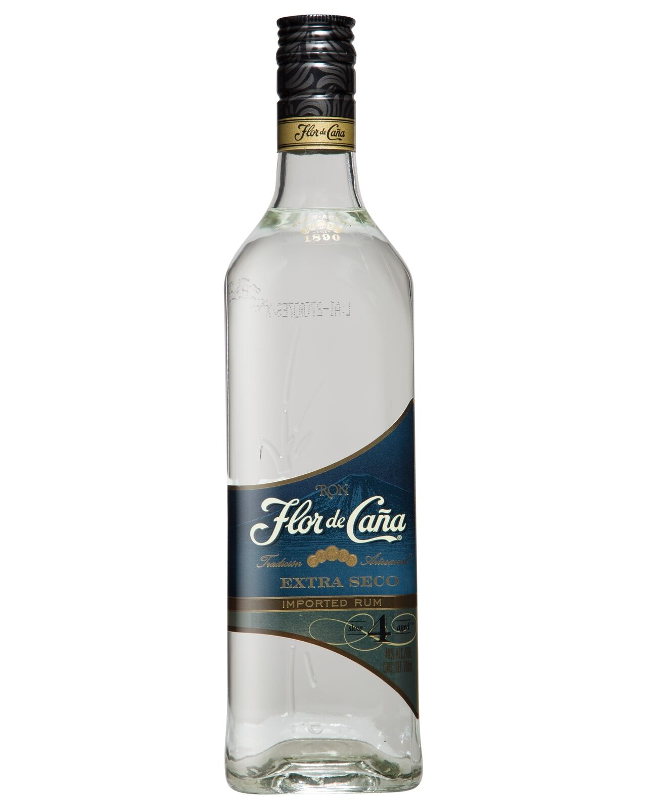 Flor de Cana 4 year Old Extra Dry White Rum 700mL bottle