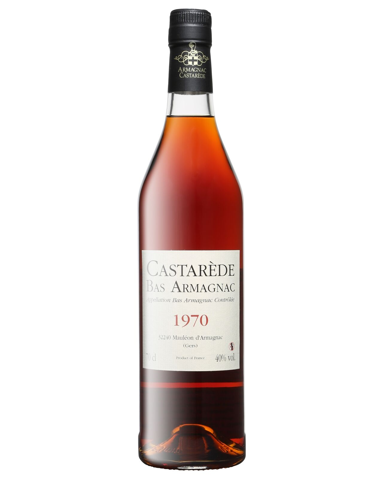 Castarede 1970 Armagnac 700mL Castarède case of 6