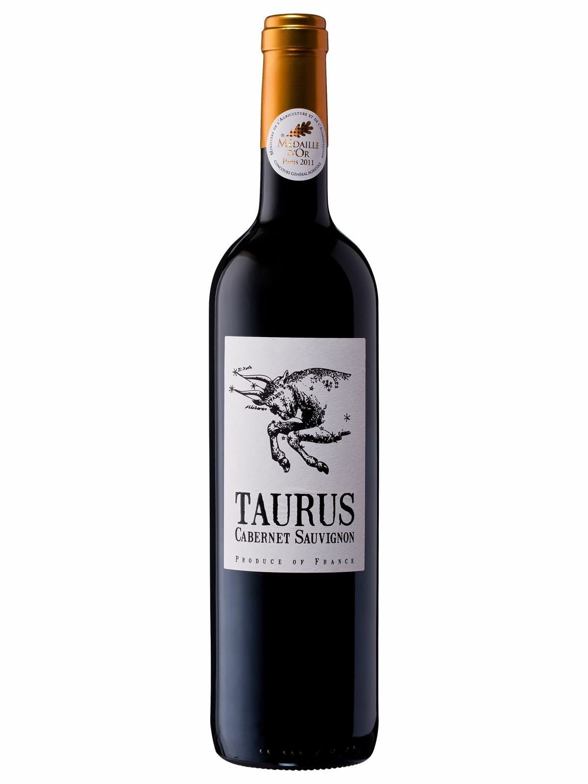 Taurus Cabernet Sauvignon 2010 case of 6 Dry Red Wine 750mL Pays D'OC