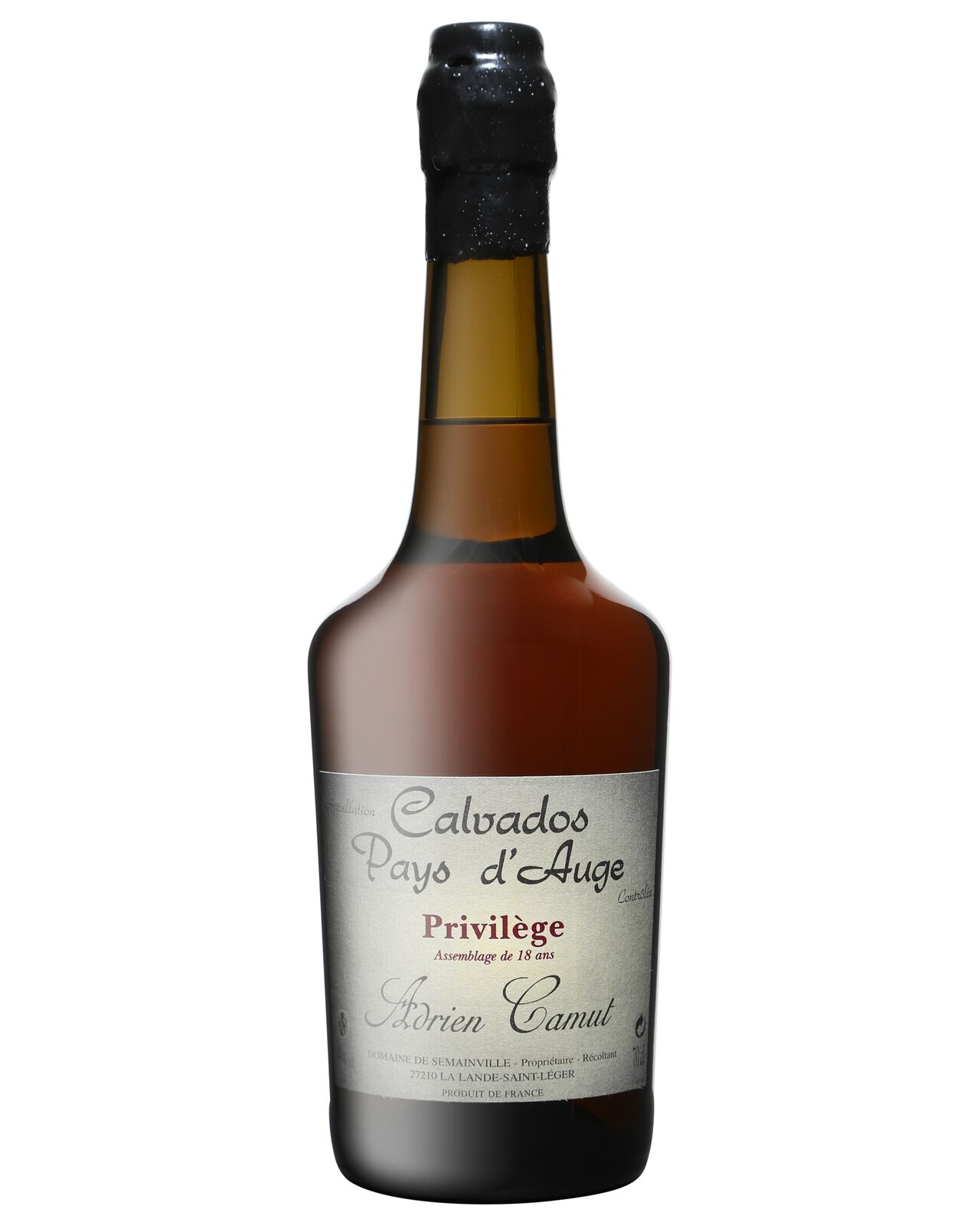 Adrien Camut Calvados Pays d'Auge 18 Years Old 700mL bottle
