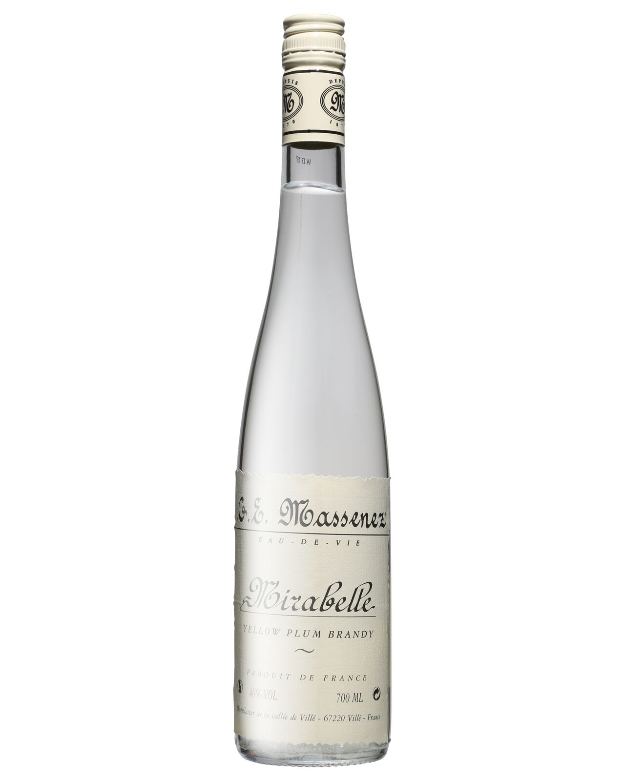 Massenez Mirabelle Eau de Vie700mL bottle Brandy 700mL