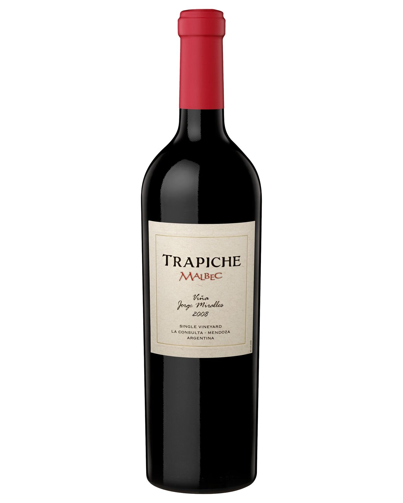 Trapiche Single Vineyard Malbec J Miralles 2008 case of 6 Dry Red Wine 750mL