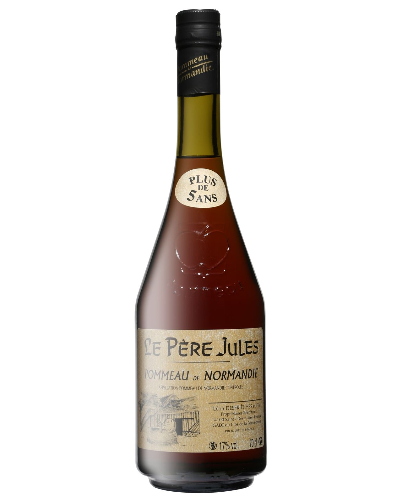 Le Pere Jules Pommeau de Normandie Aperitif 5 Years Old 700mL case of 12 Liqueur