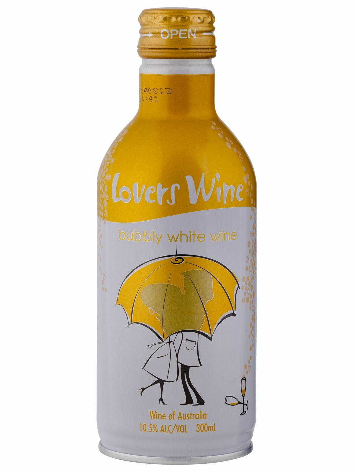 Lovers Wine Bubbly White Wine 300mL case of 12 White Blend Sparkling White