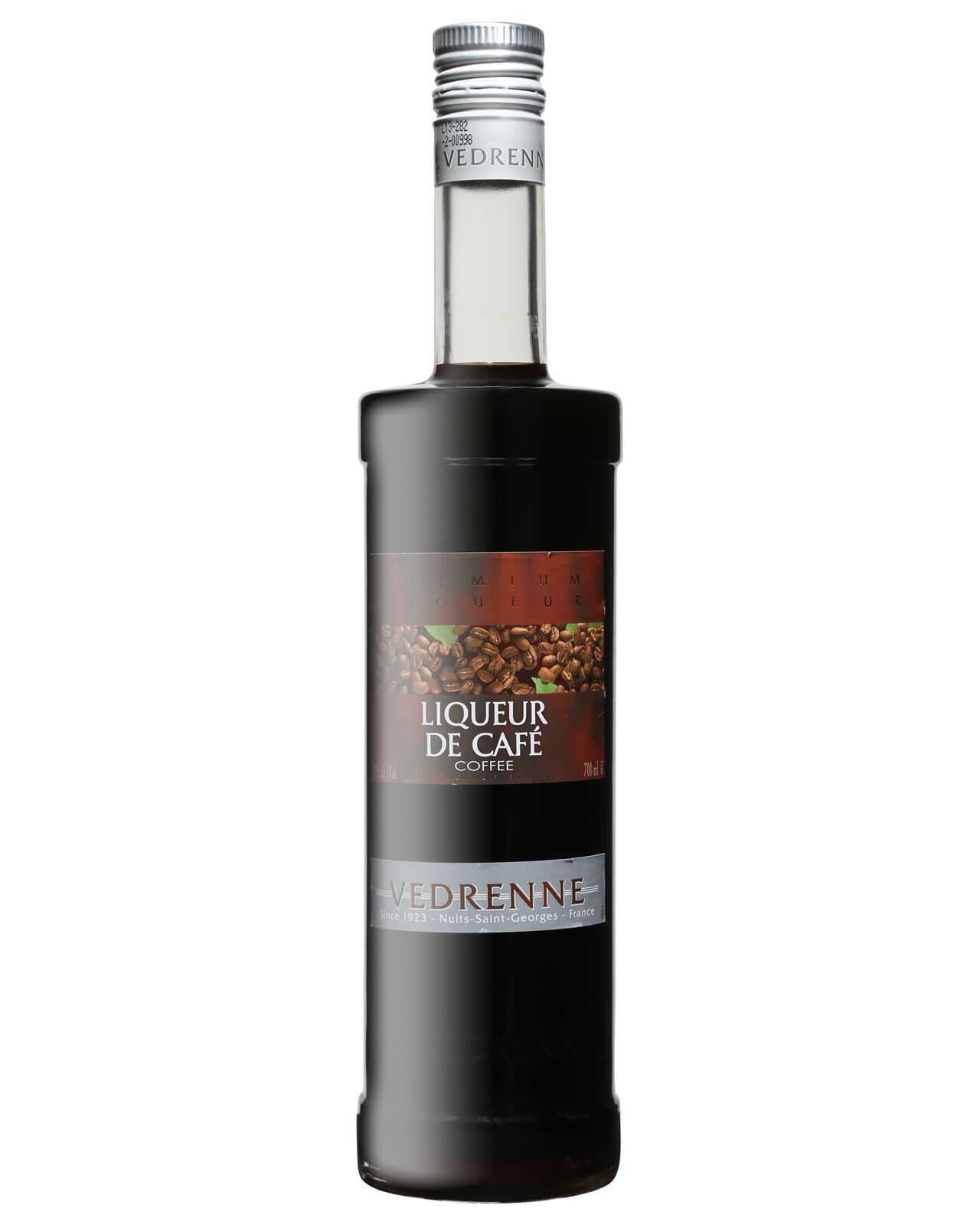 Vedrenne Liqueur de Cafe 700mL bottle Coffee Liqueurs Burgundy