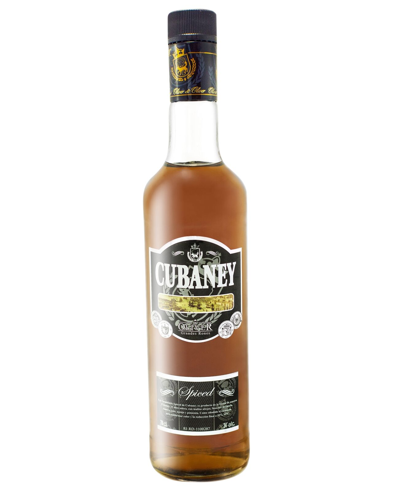 Cubaney Spiced 700mL case of 6 Rum Spiced Rum