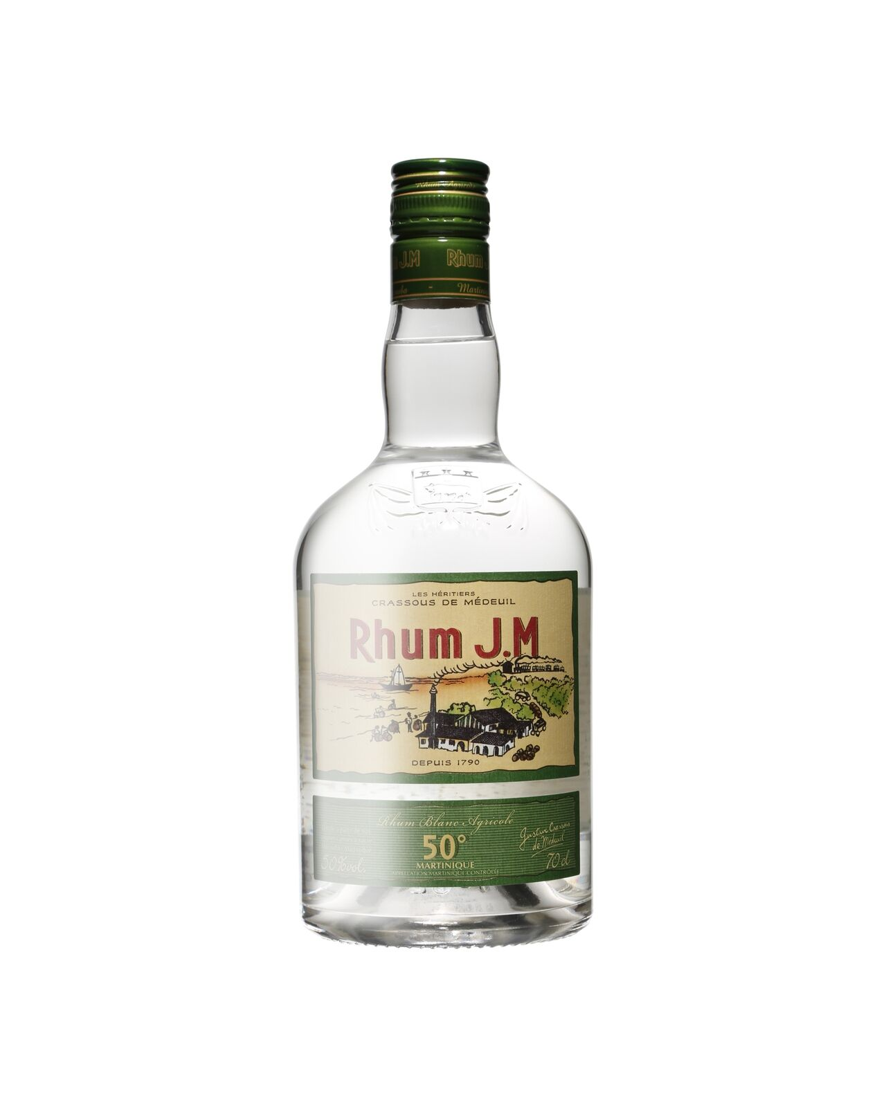 J.M. Rhum Agricole Blanc 700mL case of 6 White Rum