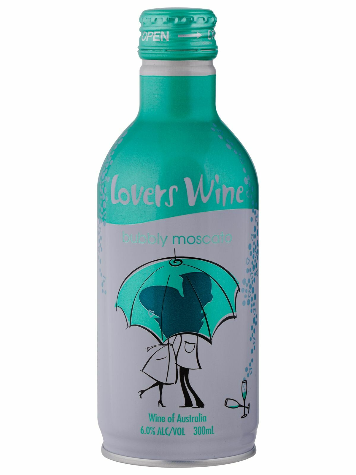 Lovers Wine Bubbly Moscato 300mL case of 12 Sparkling Sweet