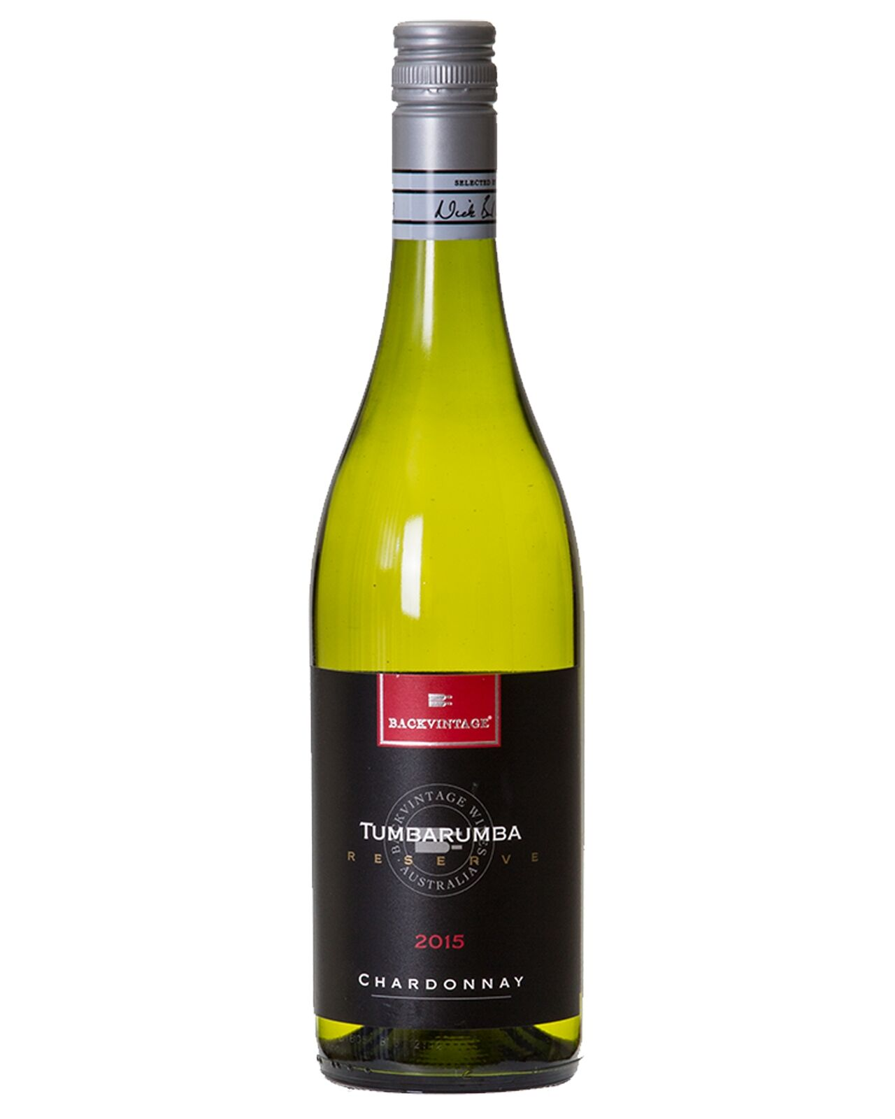 BackVintage Reserve Tumbarumba Chardonnay 2015 case of 12 Dry White Wine 750mL